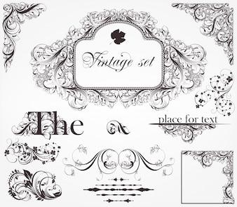Card bloem frame elegantie typografische