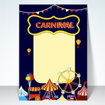 Carnavalsfeest posterontwerp