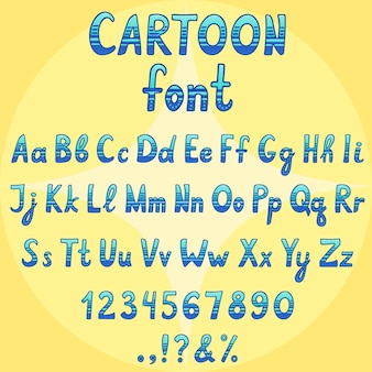 Cartoon vector lettertype