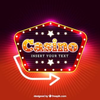Casino achtergrond ontwerp
