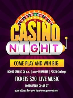 Casino nachtplak roulette design