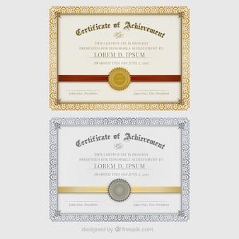 Certificaten van prestatie