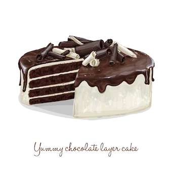 Chocolade layer cake