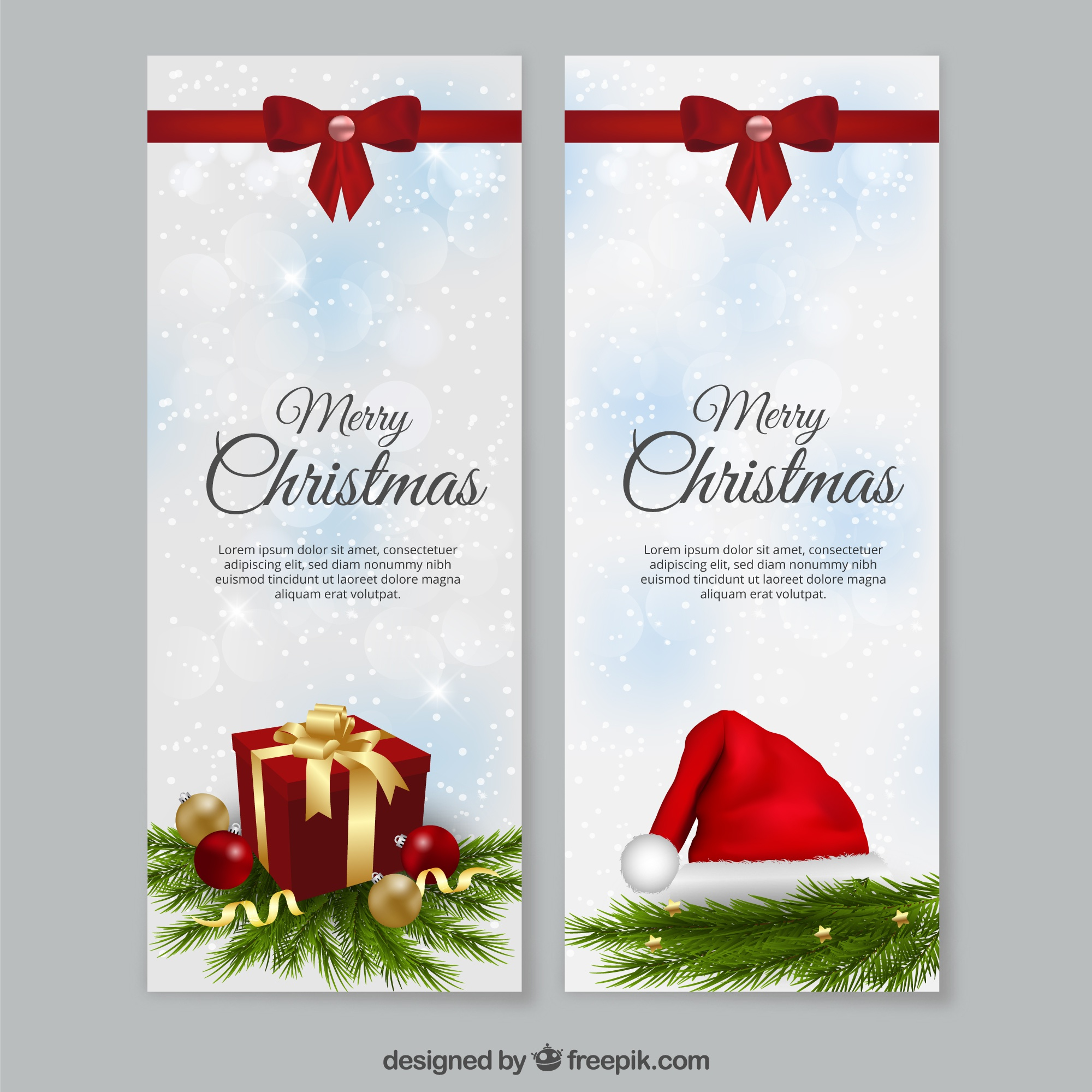 Christmas banners sjabloon