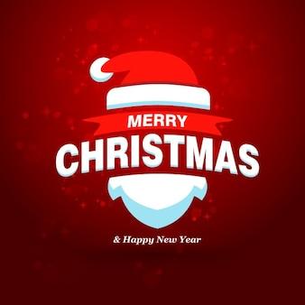 Christmas Santa Claus Snowflake achtergrond