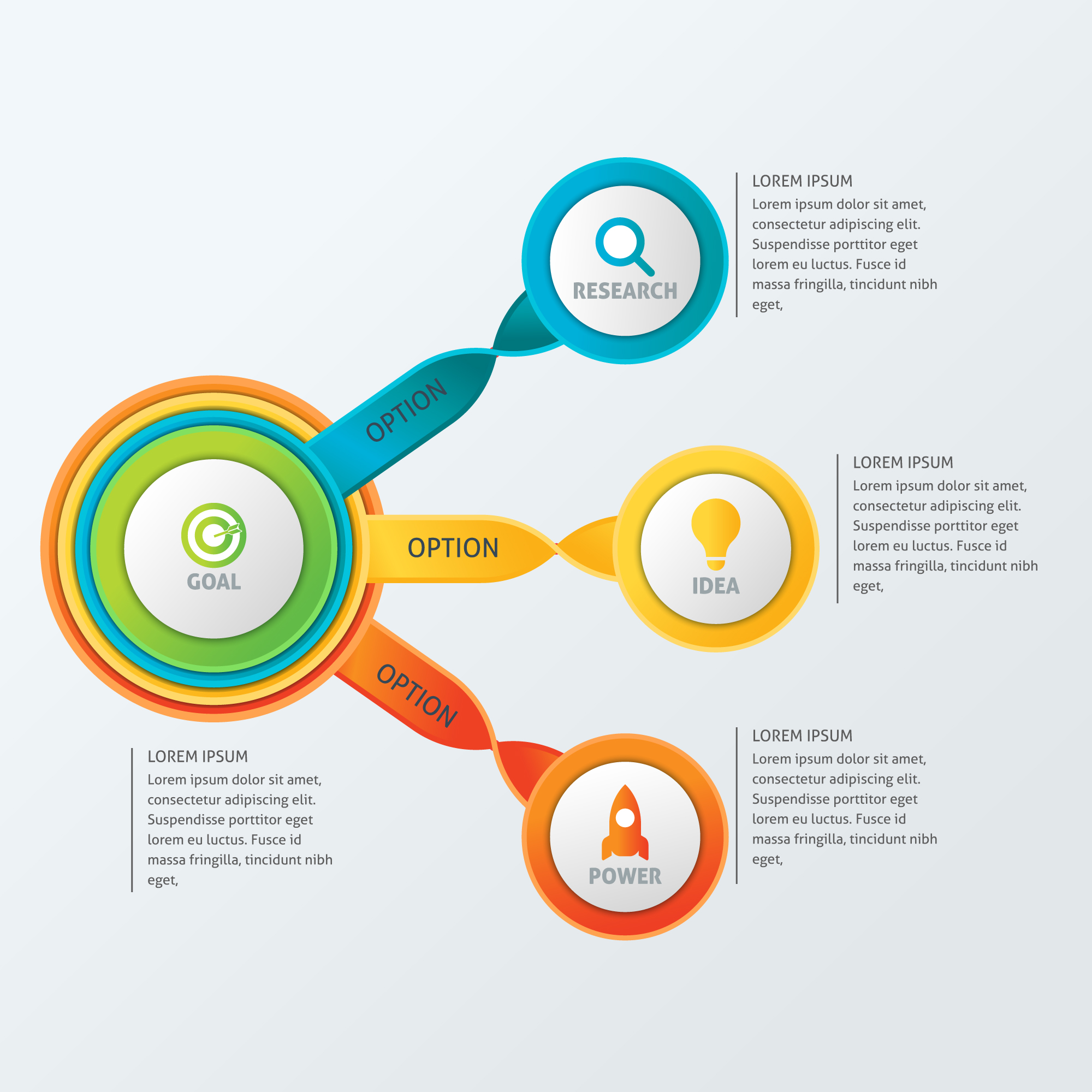 Circle Business Infographic Template