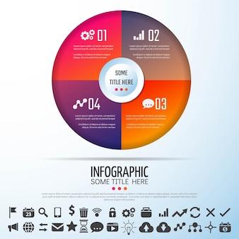 Circle Infographics Template Design