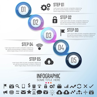 Circle Infographics Template Design