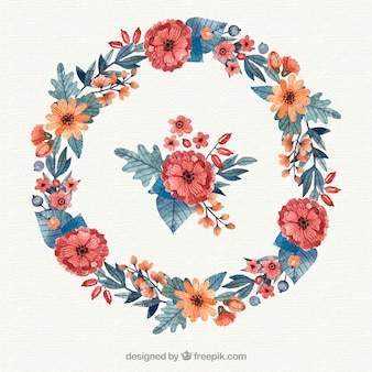Circulaire bloemenframe met elegante stijl