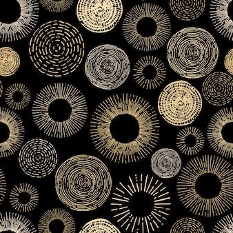 Cirkel naadloos patroon