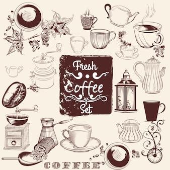 Coffee elementen ontwerp