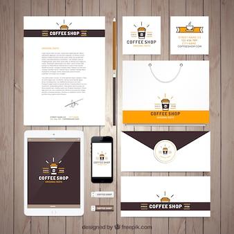 Coffee Shop Papier Set