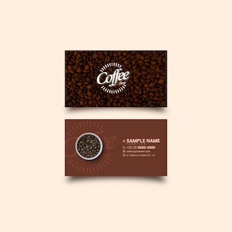 Coffee visitekaartje sjabloon