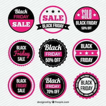 Collectie roze Black Friday Sticker
