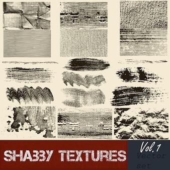 Collectie van texturen borstels