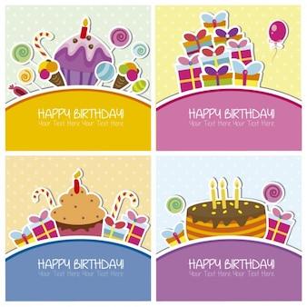 Collectie van verjaardagskaarten