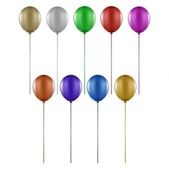 Collectie van verschillende kleurrijke ballonnen