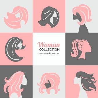 Collectie van vrouwen silhouetten