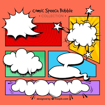 Comic style speech bubbles collectie