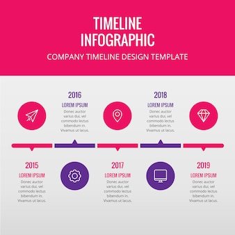 Company Timeline Infographic Design Element
