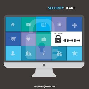 Computer veiligheid gratis vector afbeelding