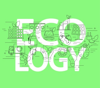 Concept ecologie.