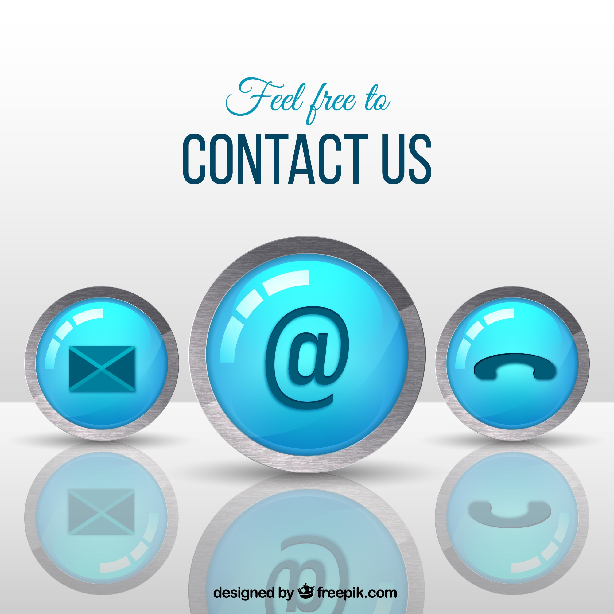 Contact knoppen achtergrond