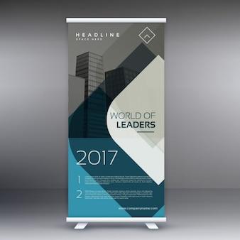 Corporate business roll up banner presentatiesjabloon