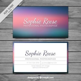 Corporate Card met gekleurde gradient