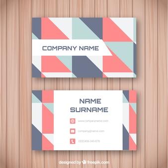 Corporate geometrische kaart met lichte tinten