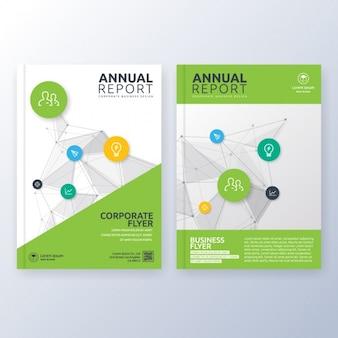 Cover van het boek template ontwerp