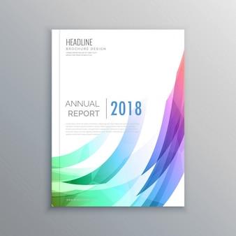 Creatief brochure flyer ontwerpen met levendige kleuren