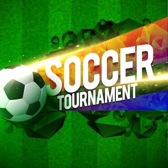 Creatief voetbal toernooi sport achtergrond ontwerp sjabloon