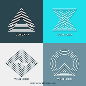 Creatieve geometrische monoline-logo's