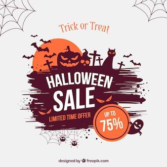 Creatieve halloween verkoop achtergrond