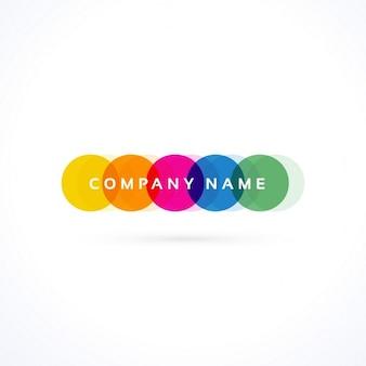 Creatieve kleurrijke trillende logo vector
