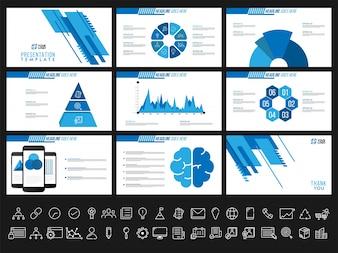 Creatieve presentatiesjablonen voor uw bedrijfsrapporten en presentaties. Kan gebruikt worden als brochure, folder, omslagontwerp.