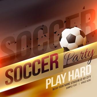 Creatieve sport voetbal voetbal poster achtergrond ontwerp vector