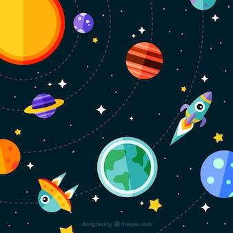 Creatieve sterrenweg achtergrond