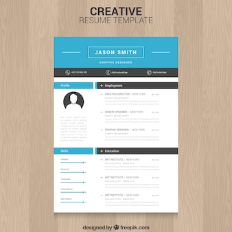 Creative CV-sjabloon