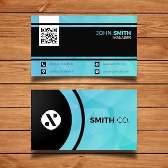Creative lichtblauw adreskaartje