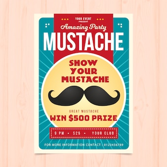 Creative movember party brochure