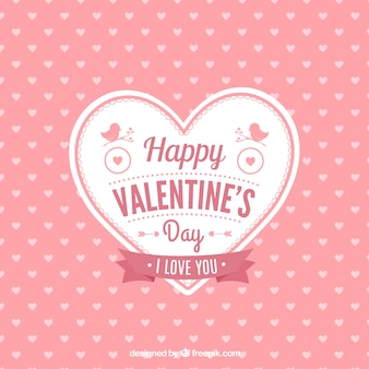 Cute Valentine's hart kaart