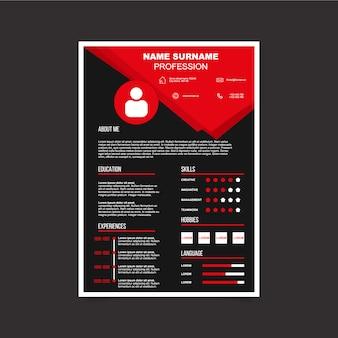 CV-sjabloon ontwerp
