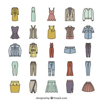 Dames mode-iconen
