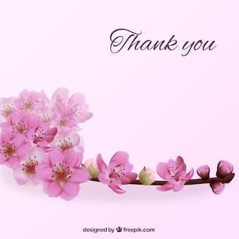 Dank je achtergrond met bloemen