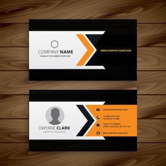 Dark corporate business card