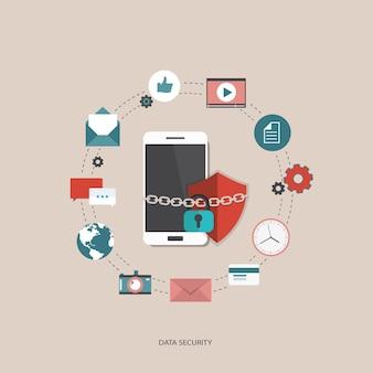 Data beveiliging concept