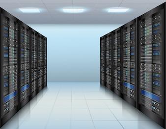 Data center achtergrond