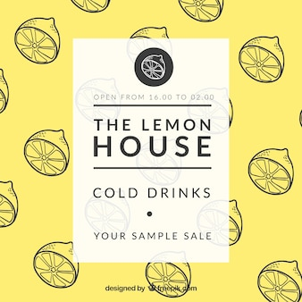 De citroen huis poster